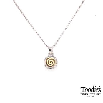 Swirl Circle Pendant Necklace