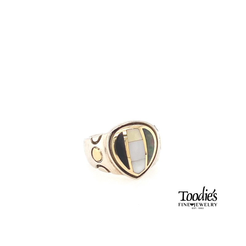 Asch Grossbardt Designs Multi Color Mother Of Pearl Fashion Ring