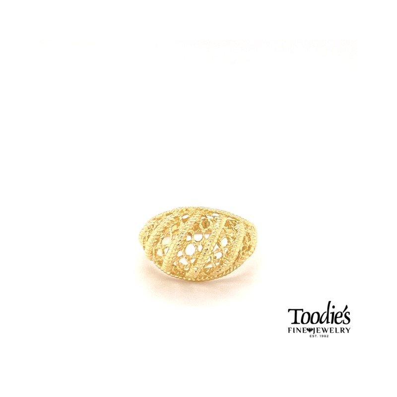 Toodie's Signature Fashion Filigree Design Dome Ring