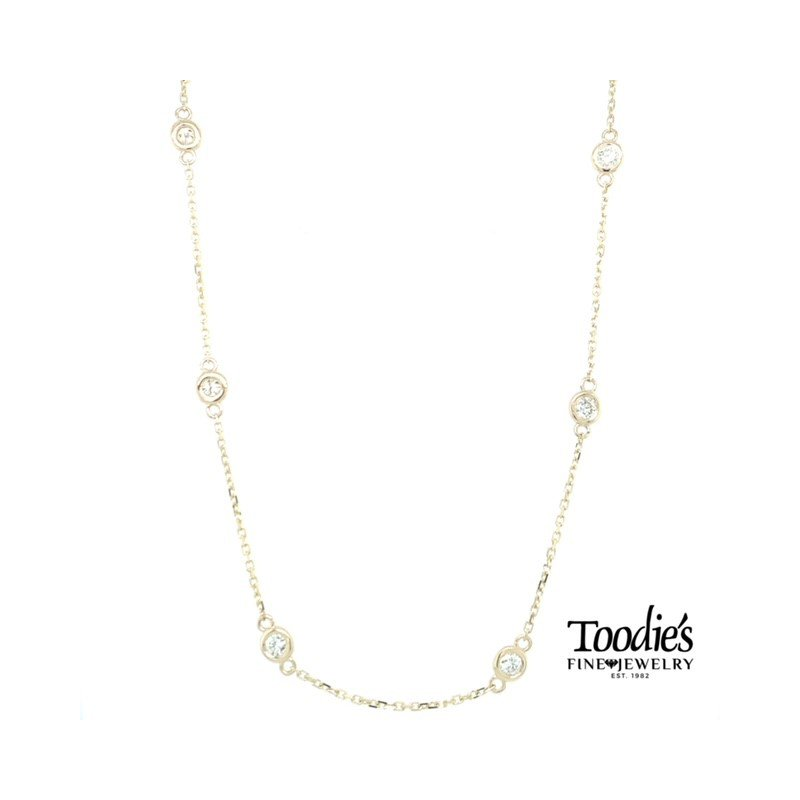 Toodie's Signature Fashion 1 Carat Diamonds by the Yard Necklace