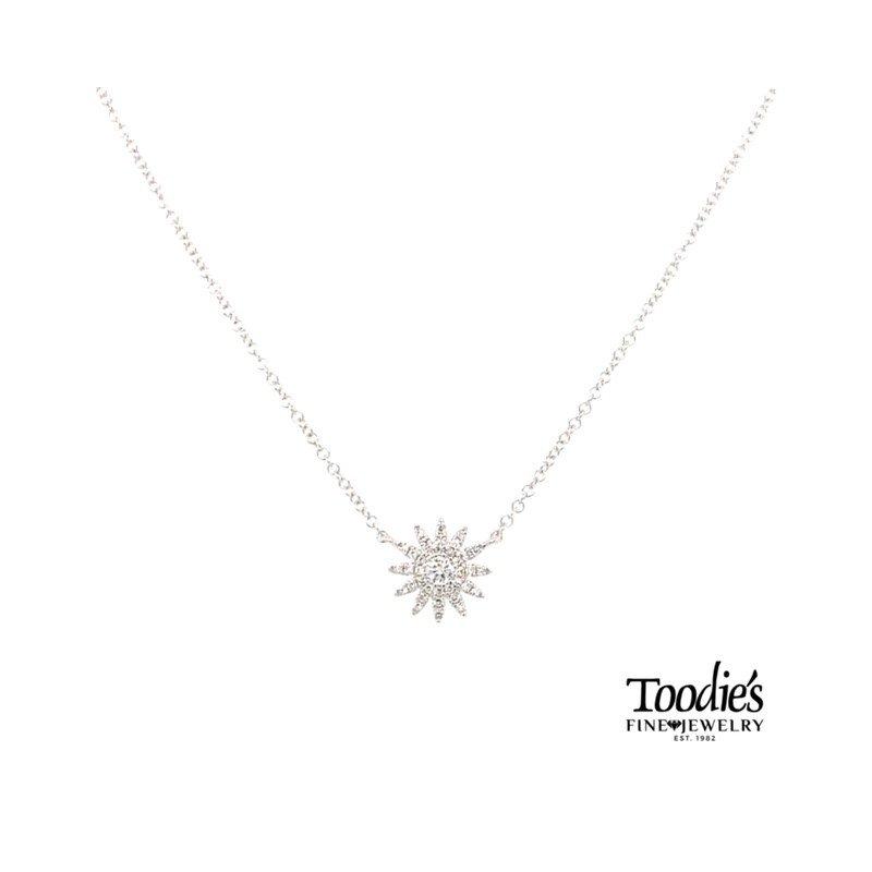 Shy Creation Diamond Starburst Necklace