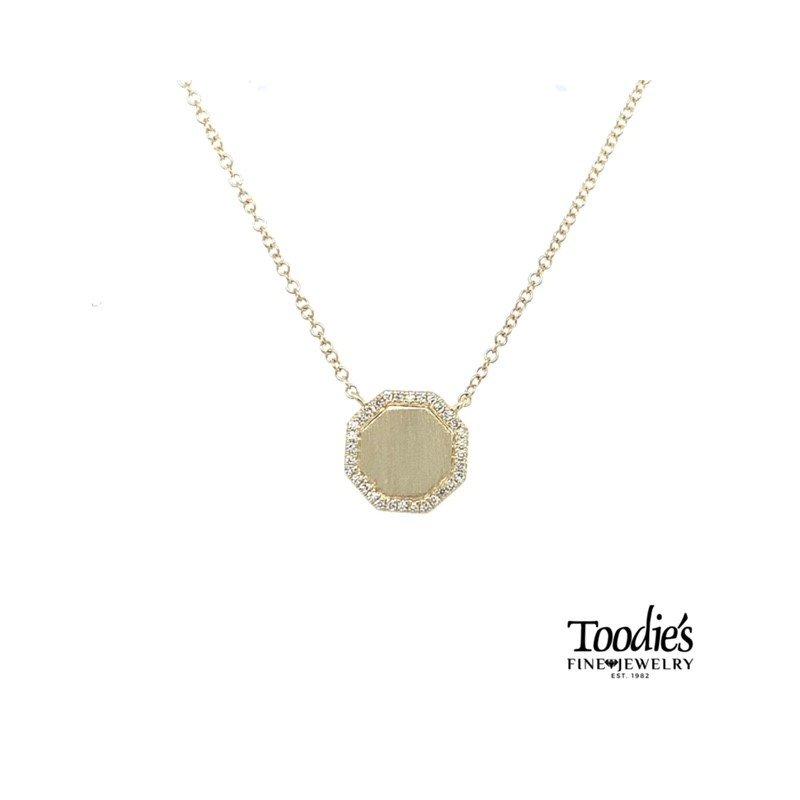 Shy Creation Octagon Diamond Necklace