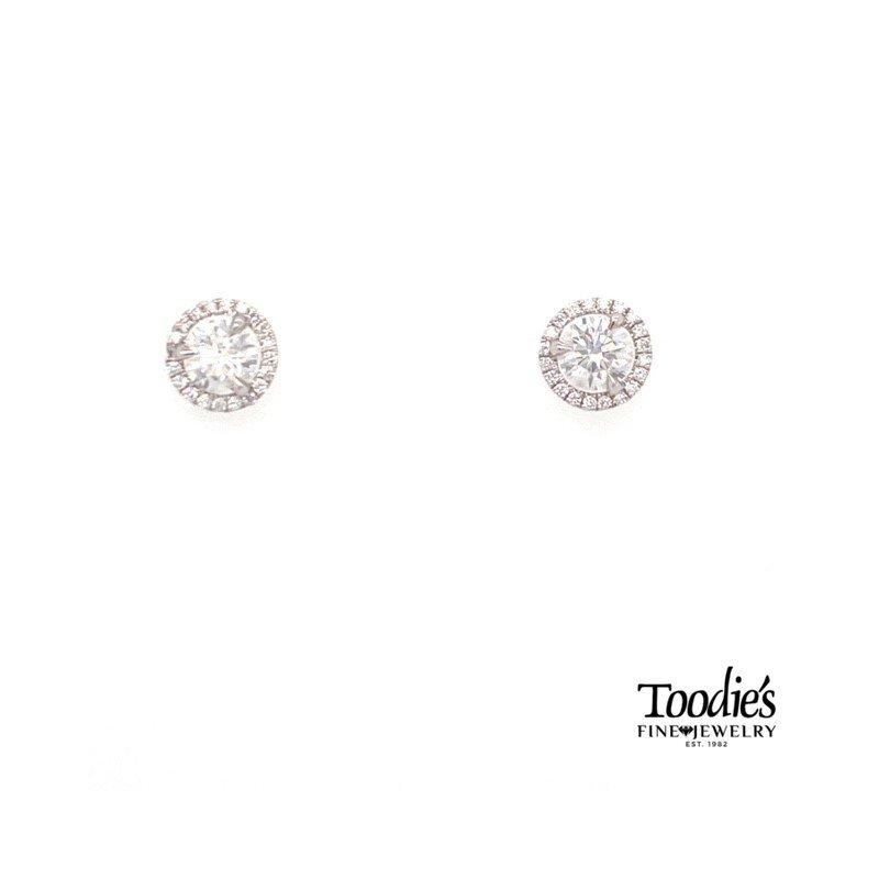 Toodie's Signature Fashion Diamond With Diamond Halo Earrings