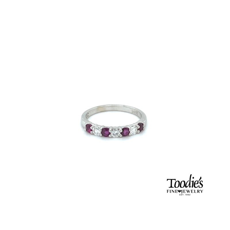 Toodie's Signature Fashion Ruby and Diamond Stackable