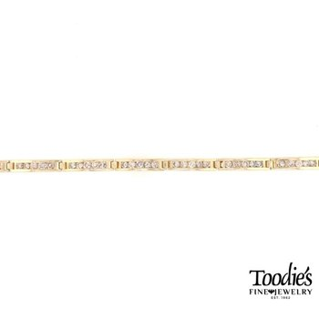 Estate Channel Set Diamond Tennis Bracelet