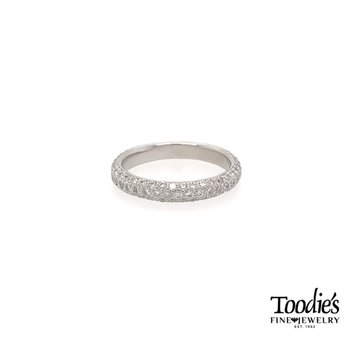 Platinum Micropave Style Wedding Band