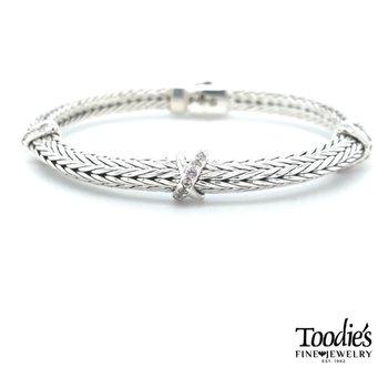 Woven White Sapphire Bracelet