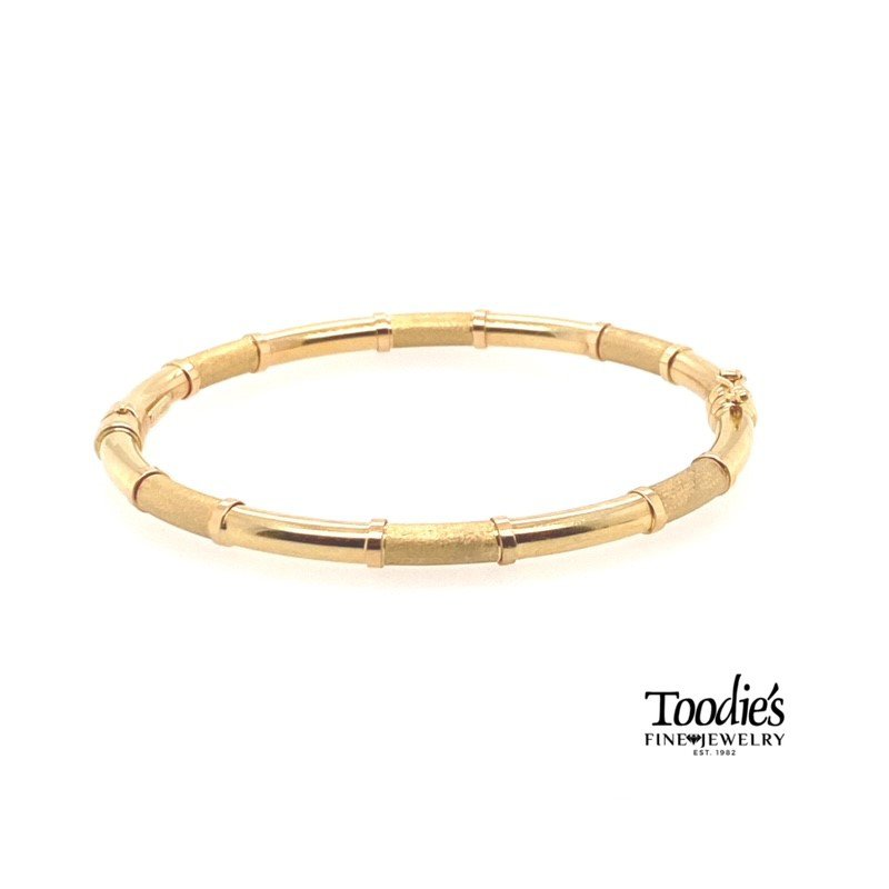 Toodie's Signature Fashion Gold Satin And Polished Bracelet