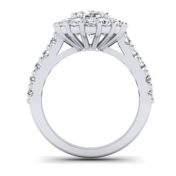 OMG Series Flowery Oval Diamond Engagement Ring