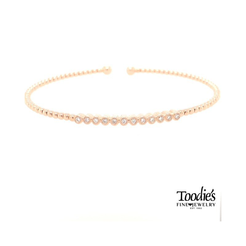 Gabriel Fashion Rose Gold Diamond Bracelet