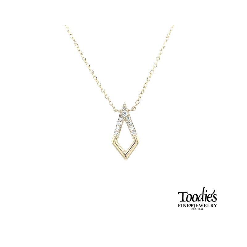 Toodie's Signature Fashion Elongated Open Triangular Diamond Pendant
