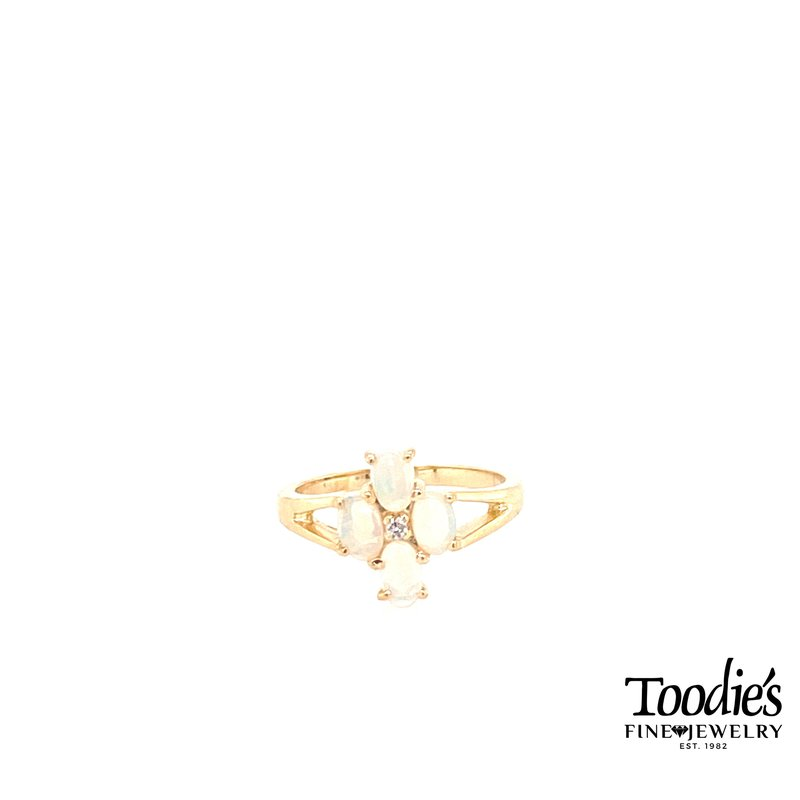 Toodie's Signature Fashion Opal and Diamond 4-Way Ring