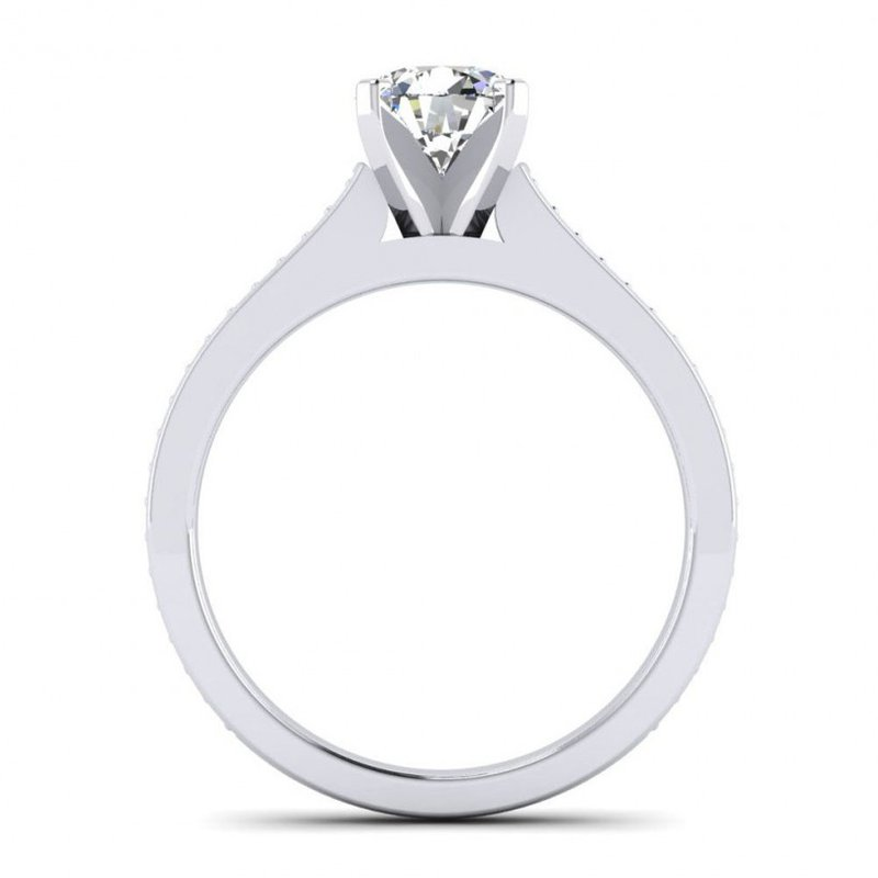 Toodie's Bridal Cathedral Style Diamond Engagement Ring