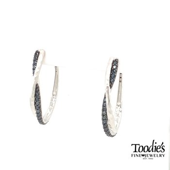 Hammered Twisted Hoop Style Earrings