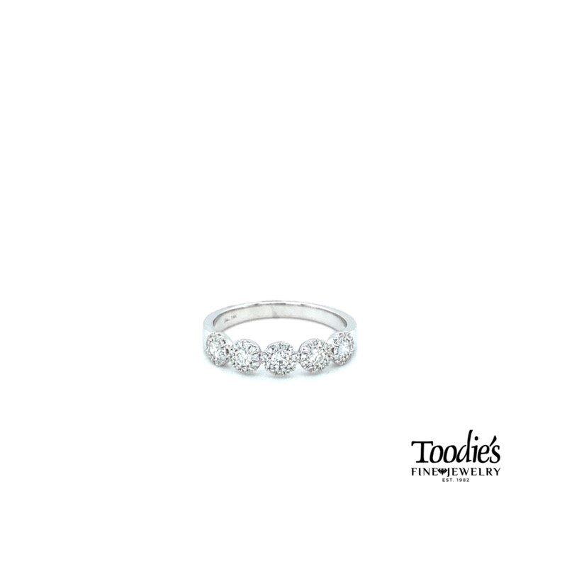 Shy Creation Five Stone Diamond Halo Ring