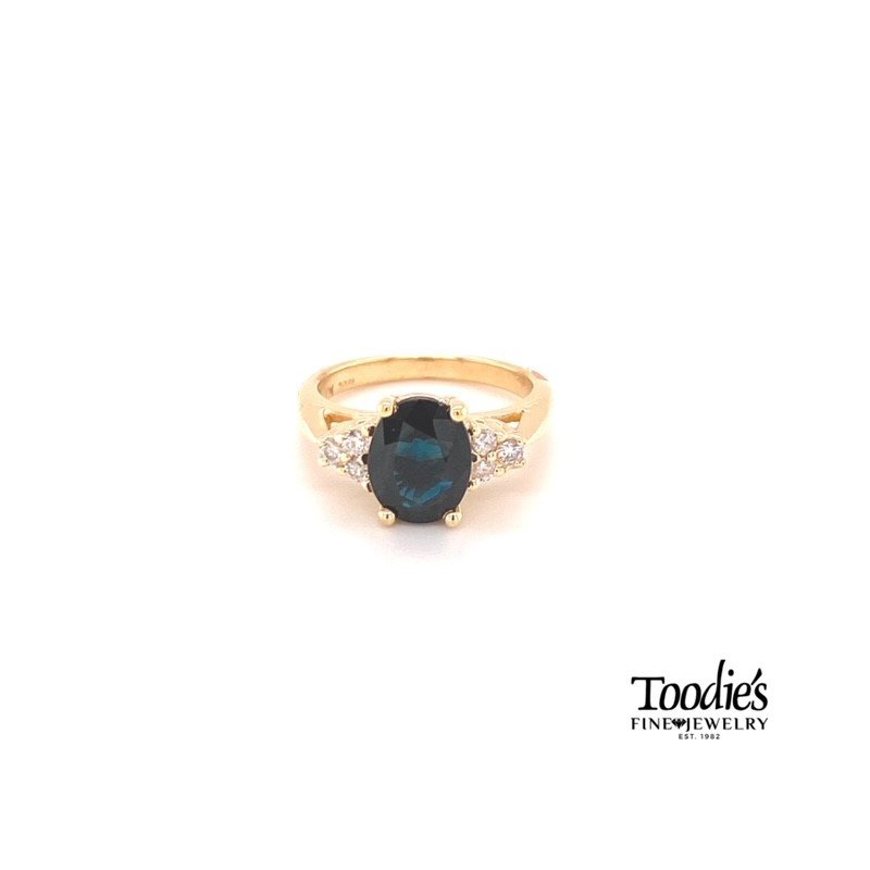 Toodie's Signature Fashion Sapphire And Diamond Cluster Ring