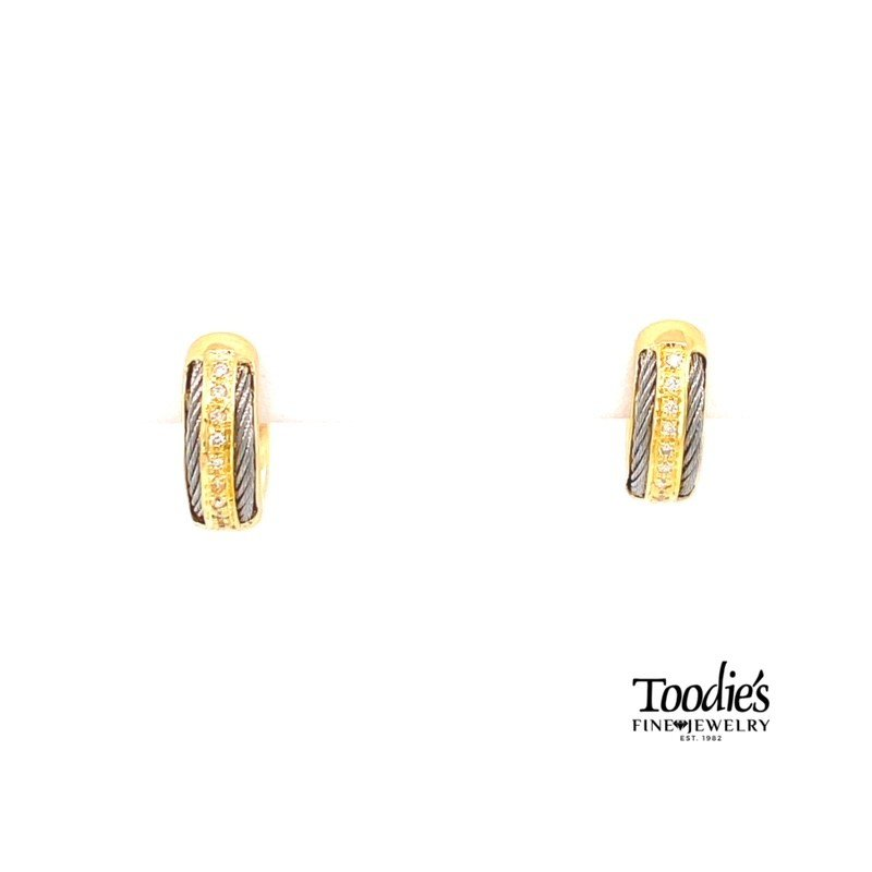 Toodie's Signature Fashion Two Tone Diamond Earrings