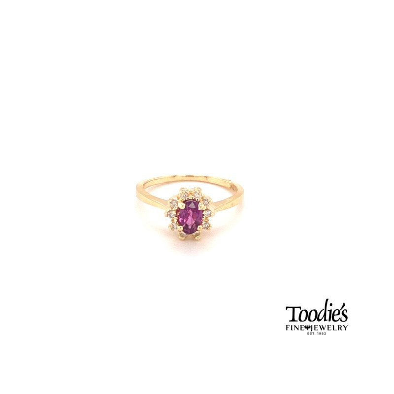 Toodie's Signature Fashion Ruby And Diamond Cocktail Ring
