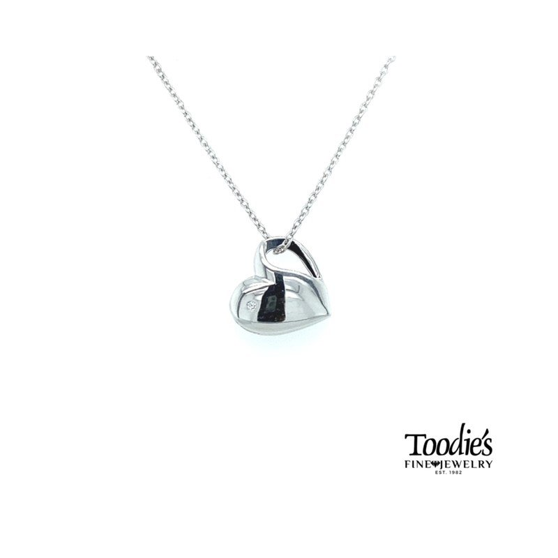 Toodie's Signature Fashion Sterling Diamond Heart Pendant