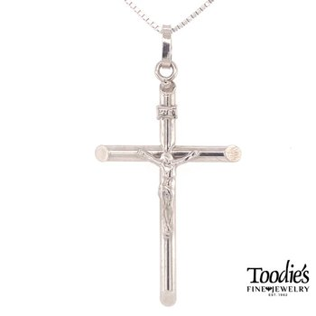 Gold Crucifix Cross Necklace