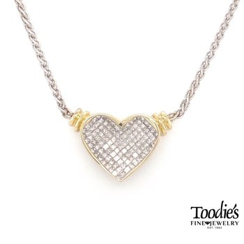 Invisible Set Diamond Heart Pendant