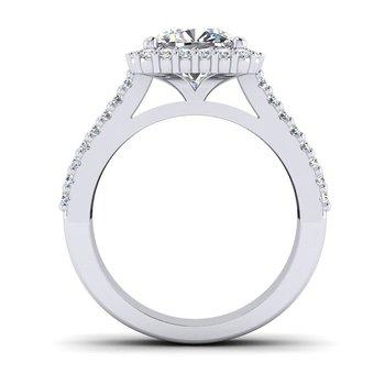 OMG Series Triple Row Cushion Shaped Diamond Engagement Ring