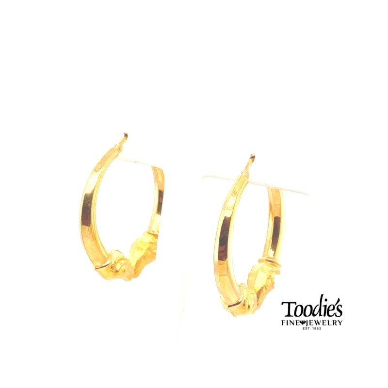 Toodie's Signature Fashion Kissing Ram Head Hoop Earrings