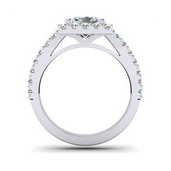 OMG Series Princess Cut Split Shank Style Engagement Ring