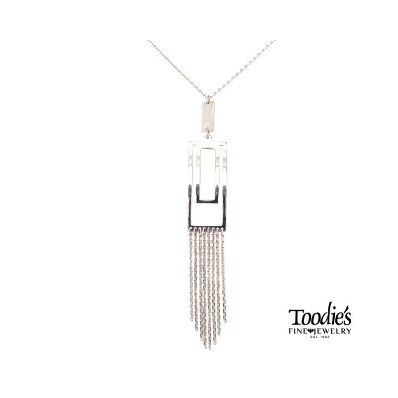 Toodie's Signature Fashion Rectangular Lariat Style Drop Necklace