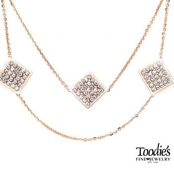 Diamond Cut Beaded Links Necklace