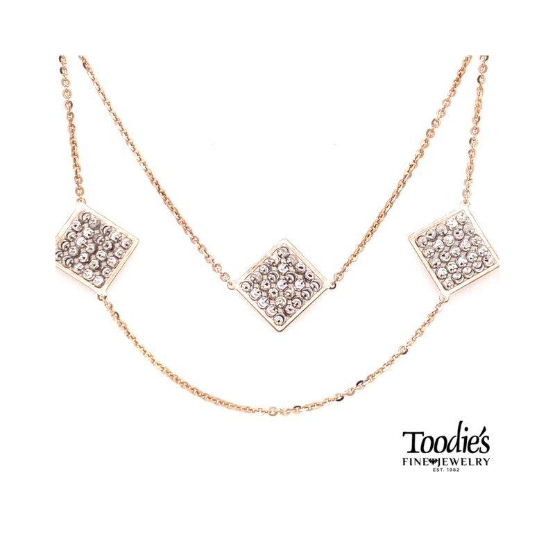 Officina Bernardi Diamond Cut Beaded Links Necklace