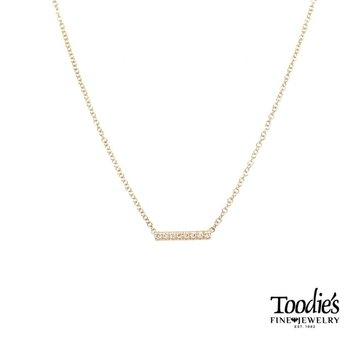 Petite Diamond Pave' Bar Necklace