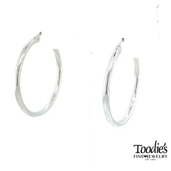Steriling Silver Medium Hoop Earrings