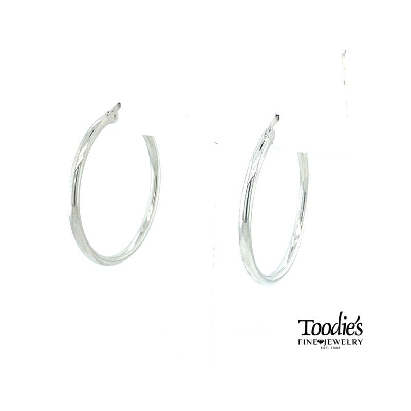 Toodie's Signature Fashion Steriling Silver Medium Hoop Earrings