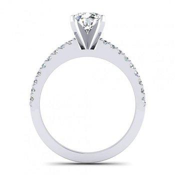 Classic Pave Diamond Engagement Ring