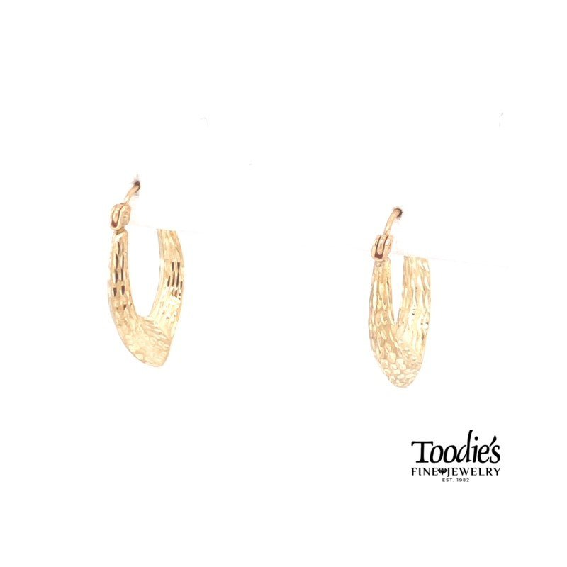 Toodie's Signature Fashion Textured Polish & Satin Pointed Hoops