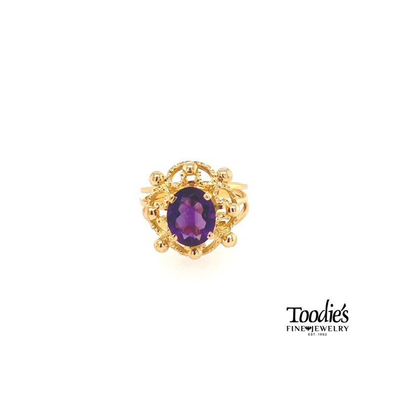 Toodie's Signature Fashion Vintage Amethyst Ring
