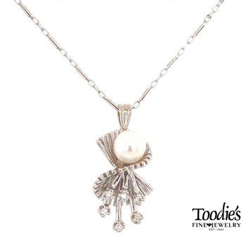 Art Deco Pearl and Diamond Chandelier Pendant