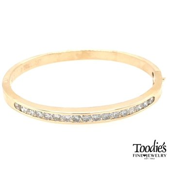Channel Set Diamond Bangle Bracelet