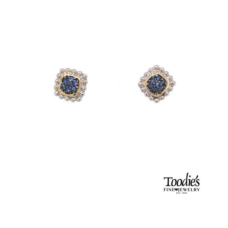 Phillip Gavriel Sapphire Cluster Studded Earrings