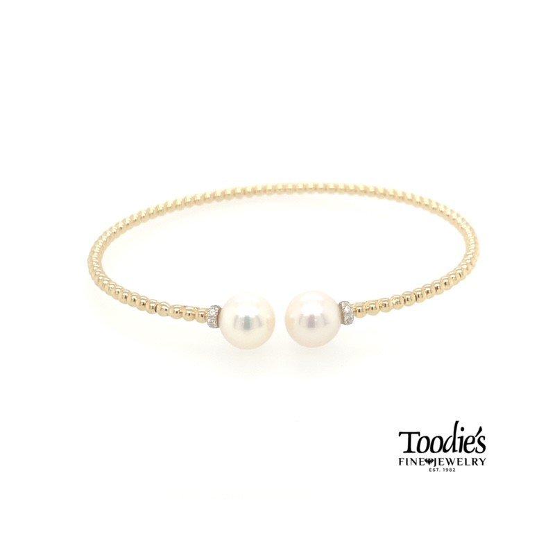 Gabriel Fashion Pearl And Diamond Beaded Bracelet