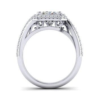 OMG Series Bypass Emerald Cut Diamond Engagement Ring