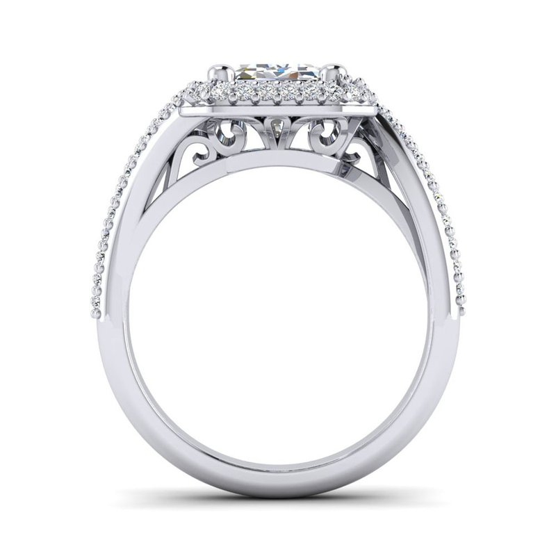 Toodie's Bridal OMG Series Bypass Emerald Cut Diamond Engagement Ring