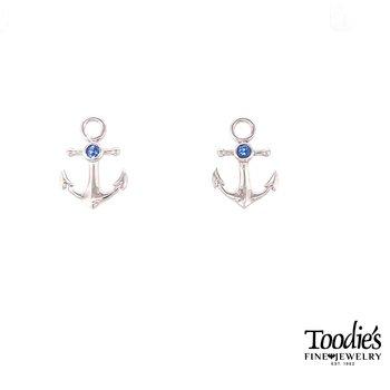 Anchor Style Studded Earrings