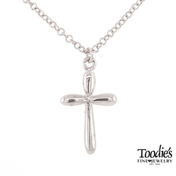 Rounded Style Cross Necklace