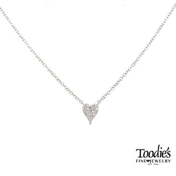 Diamond Cluster Heart Pendant