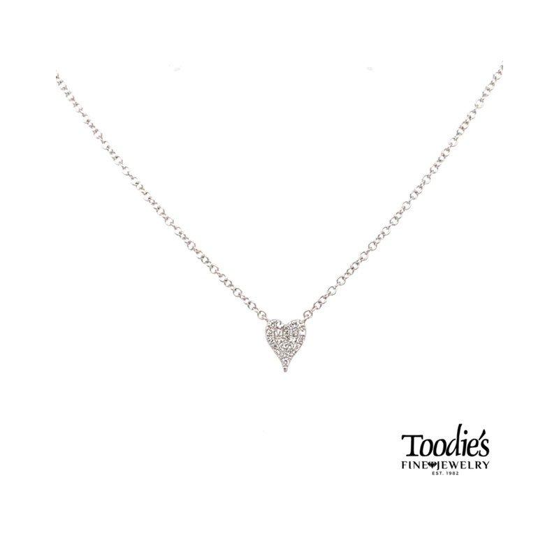 Shy Creation Diamond Cluster Heart Pendant