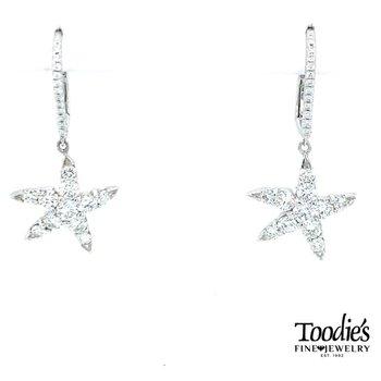 Diamond Starfish Drop Earrings