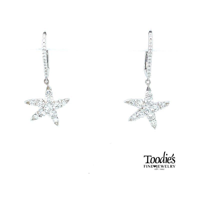 Toodie's Signature Fashion Diamond Starfish Drop Earrings