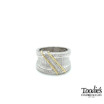 Judith Ripka Engraved Style Diamond Band